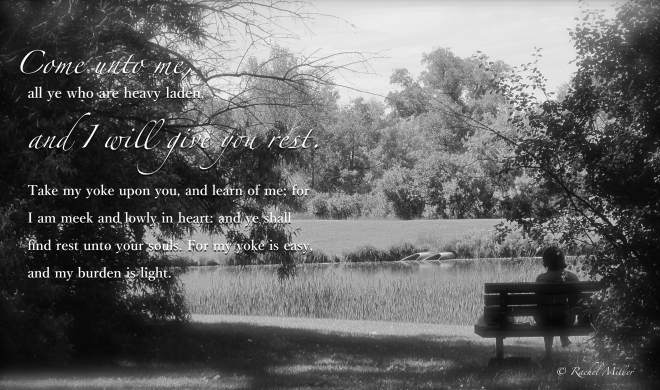 Come unto me -bench